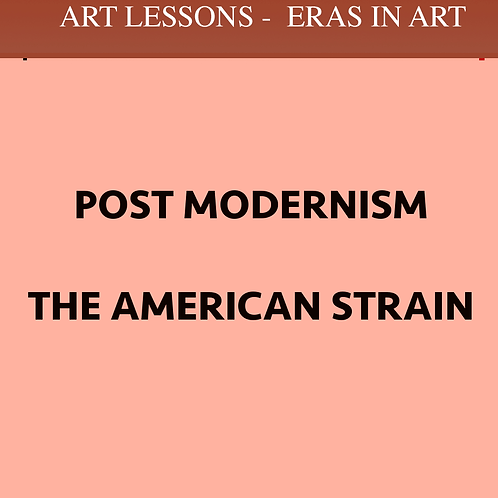 POST MODERNISM - the American Strain