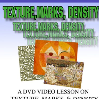 TEXTURES, MARKS, AND DENSITIES DVD