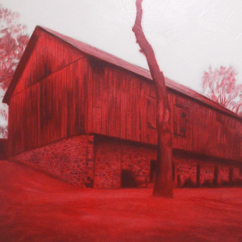 Travelogue Series / Barn Red  42x50 oct 2020
