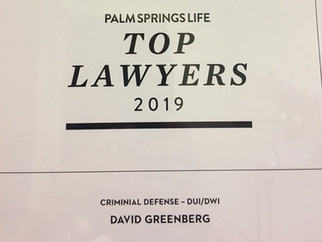 David Greenberg Award 2019 Palm Springs Life Top Lawyers!