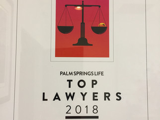 Palm Springs Life Top Lawyers 2018