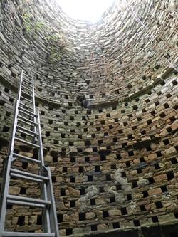 Restauration pigeonnier intérieur