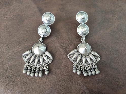 Amrapali Tribal Traditional Silver Earrings