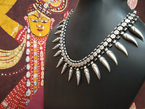 Chilly Rajasthani Silver Necklace