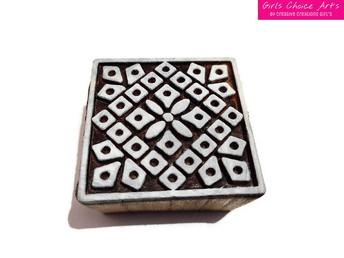 Handmade Gift Making - Square Shape Wooden Blocks - Wall Art's - Wall Stamps