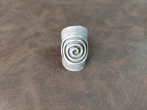 Antique Silver Wire Spiral Ring