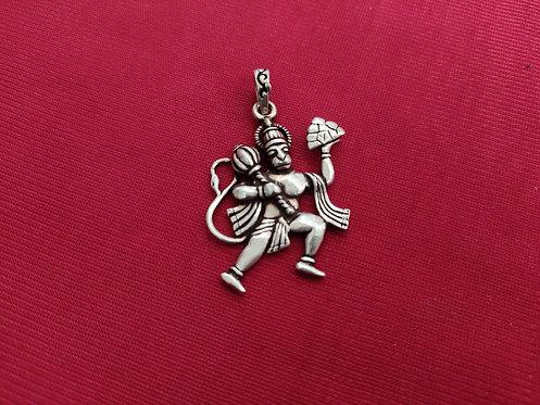 Monkey God Sterling Silver Pendant - Lord Hanuman Pendant