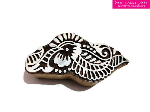 Conch Shell Wooden Block - Printing, Gift Card, School/College Project