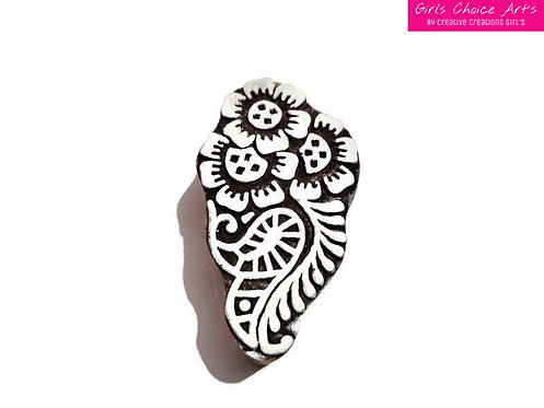 Floral Wooden Block - Printing, Gift Card, School/College Project, Home Decorate