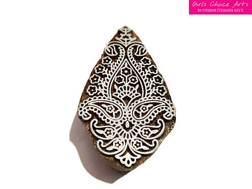 Hand Crafted Floral Stamps - Amrapali Stamps - Mandana Stamps - Henna Wooden Art