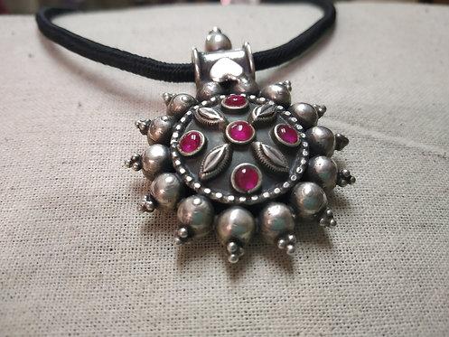 Rajasthani Ethnic Tribal Silver Pendant