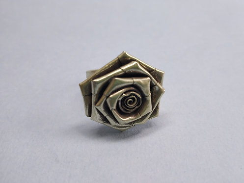 Vintage and Handmade 925 Sterling Silver Rose Flower Ring
