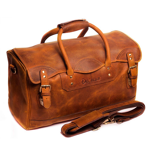 Handmade Travel Weekender Luggage bags made with genuine leather