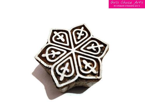 Mandana Stamps - Henna Wooden Art Block Handmade Gift Making - Home Decoration