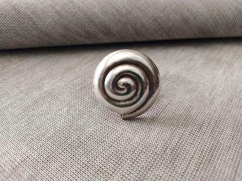 Antique Vintage and Handmade Silver Spiral Ring
