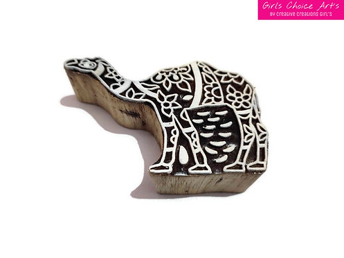 Camel Shape Wooden Block - Printing, Gift Card, School/College Project