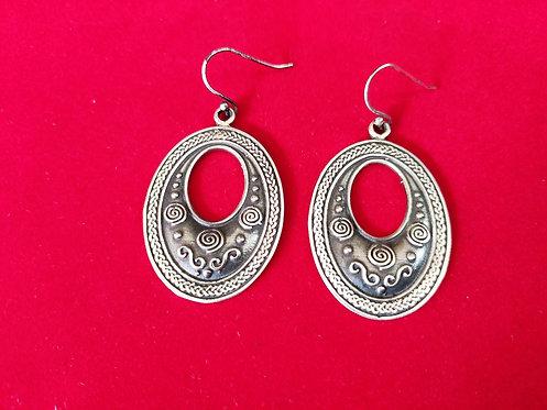 Oval Shape Dangle and Drop Earrings