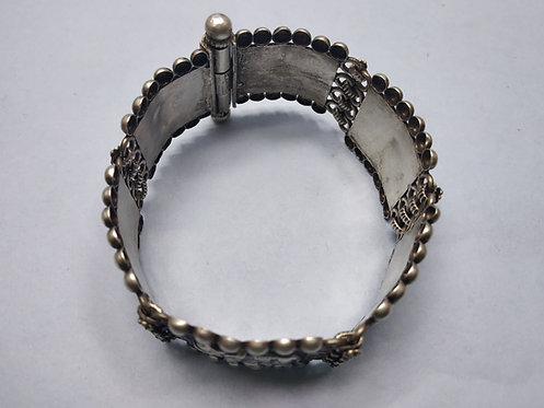 1980 800 Silver Vintage Rajasthani Elephant pattern bracelet