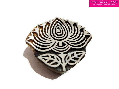 Lotus Shape Wooden Block - A Rural Creative Creation - Lotus Fabric Stamps