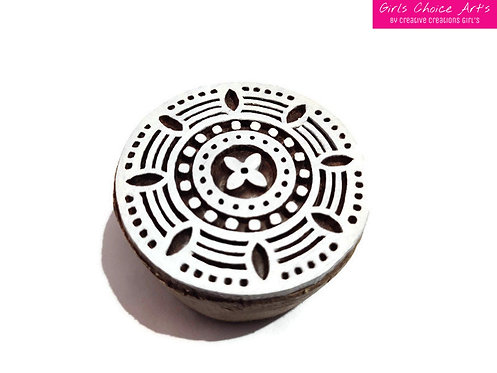 Beautifully Fine Hand Crafted Wooden Art Blocks - Round Shape Art Blocks