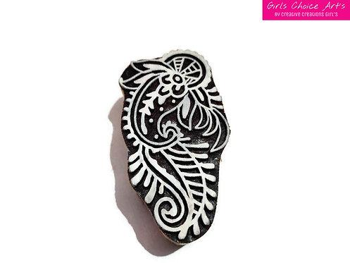 Henna Wooden Art Block Handmade Gift Making - Home Decoration