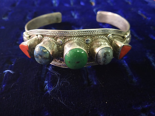 Lapis Lazuli, Coral And Turquoise Bracelet