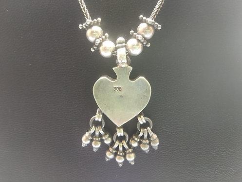 Mayuri Leaf Shape Pendant necklace - 800 Silver