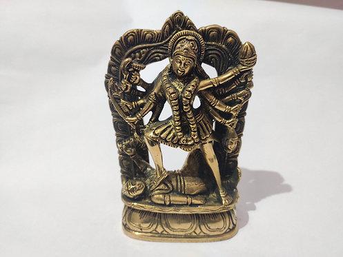 Goddess Mahakali Bronze Statue - Vintage and Collectible Art Piece