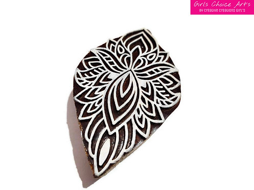 Beautiful Handmade Gift - Floral Henna Stamps - Floral Henna Blocks - Wood Stamp