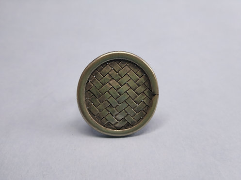 Vintage and Handmade Sterling Silver Mat Ring