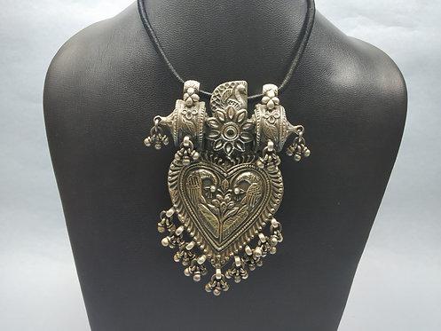 Vintage Big Rajasthani Tribal Peacock Pendant