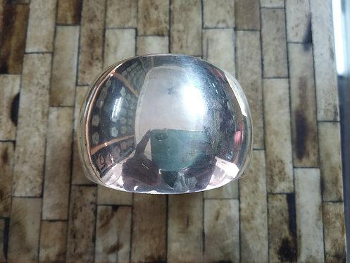 Convex Silver Mirror Bracelet