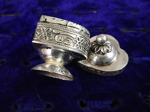 Heart Shape Vintage Silver Box