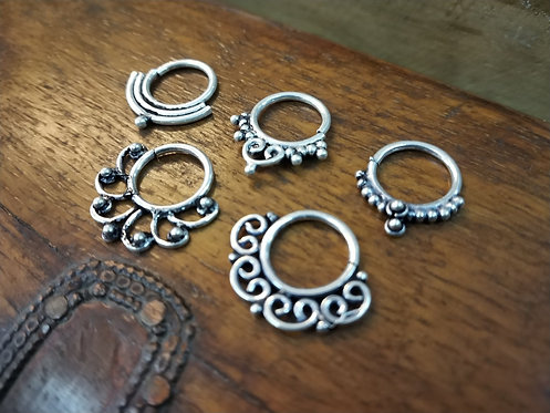 Ear Ring - Piercing Nose Ring - Piercing Ear Ring - 925 Silver - Nose Hoop