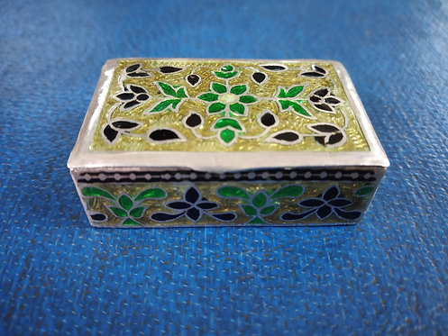 Vintage Silver Jewelry box - Handmade