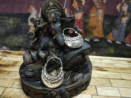 Silver Hoop Earring - Silver Bali