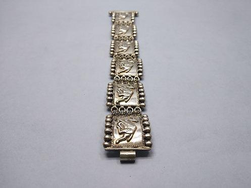 1980 800 Silver Vintage Rajasthani camel pattern bracelet