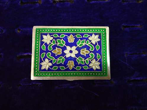 Vintage and Handmade Enamel Pill Box