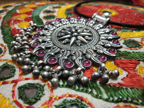 Peacock Silver Amulet