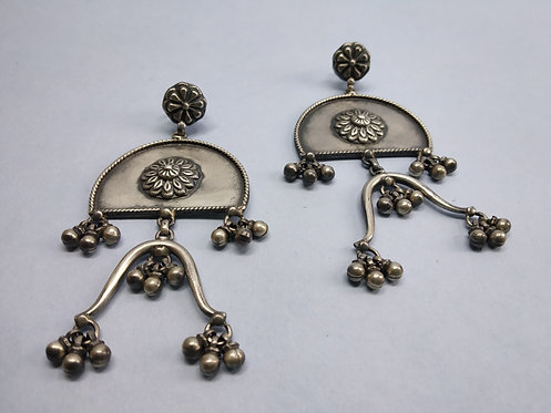 Flower Tribal Push Back Earring