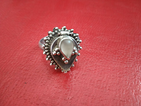 1980's Vintage Poison box Silver Ring