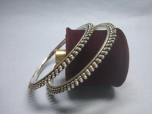 Handmade 925 Solid silver Indian tribal Bangle Bracelets