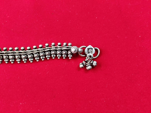 Traditional Trinetra Silver Anklet