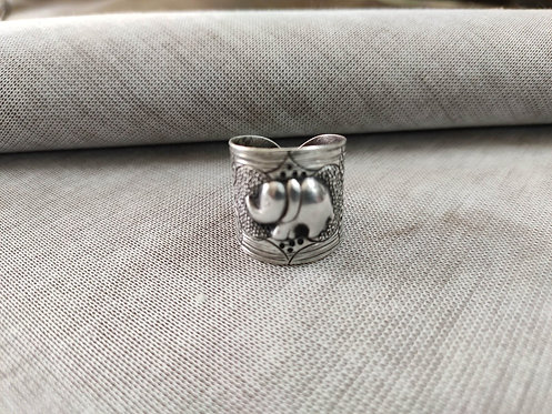 Embossed Elephant Vintage Silver Ring
