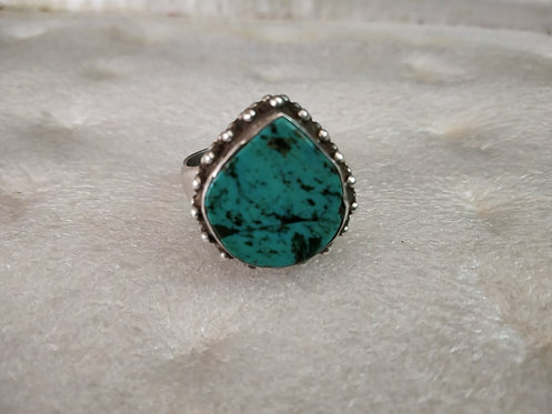 1950's Turquoise Nepali Silver Ring