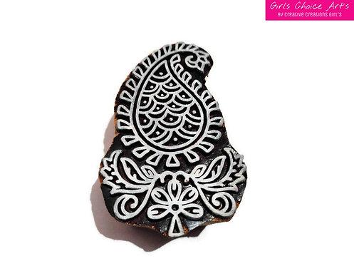 Floral Stamps - Amrapali Stamps - Mandana Stamps - Henna Wooden Art Block