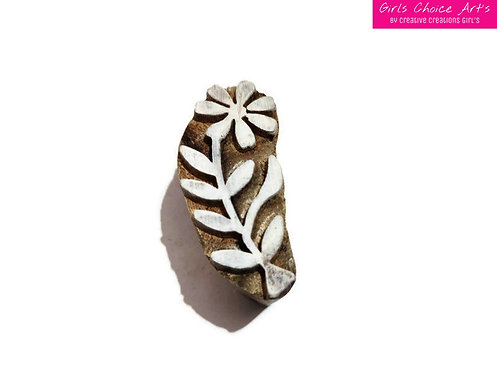 Hand Crafted Wooden Block - Floral Leaf Designs - Best for Personal Gift Present