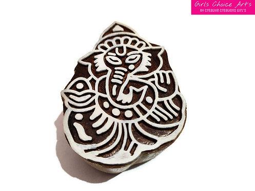 Ganesha Wood Block - Handmade Wood Block - Textile Stamps - Fabric Printing