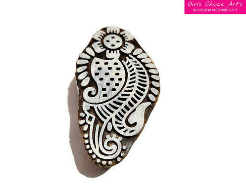 Floral Shape Stamps - Leaf Shape stamps - Henna block