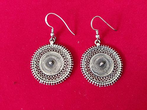 Rajasthani Tribal Traditional Silver Jhali Earrings